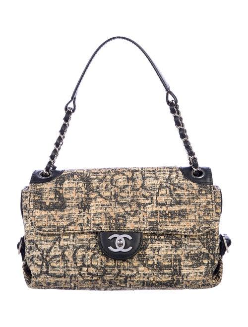 Chanel Tweed Shoulder Bag Silver - image 1