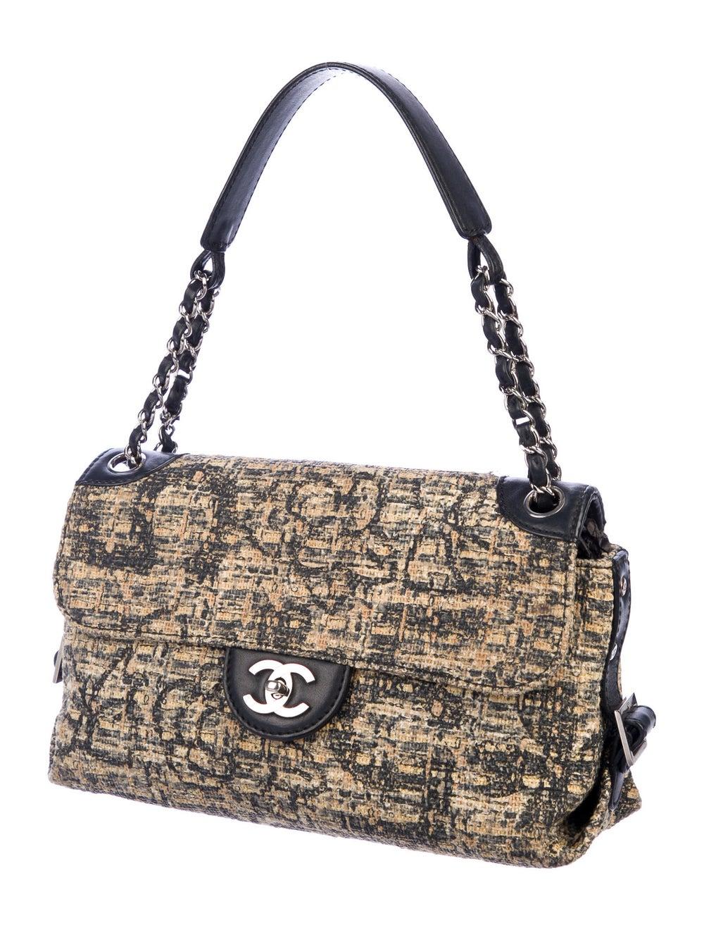 Chanel Tweed Shoulder Bag Silver - image 3