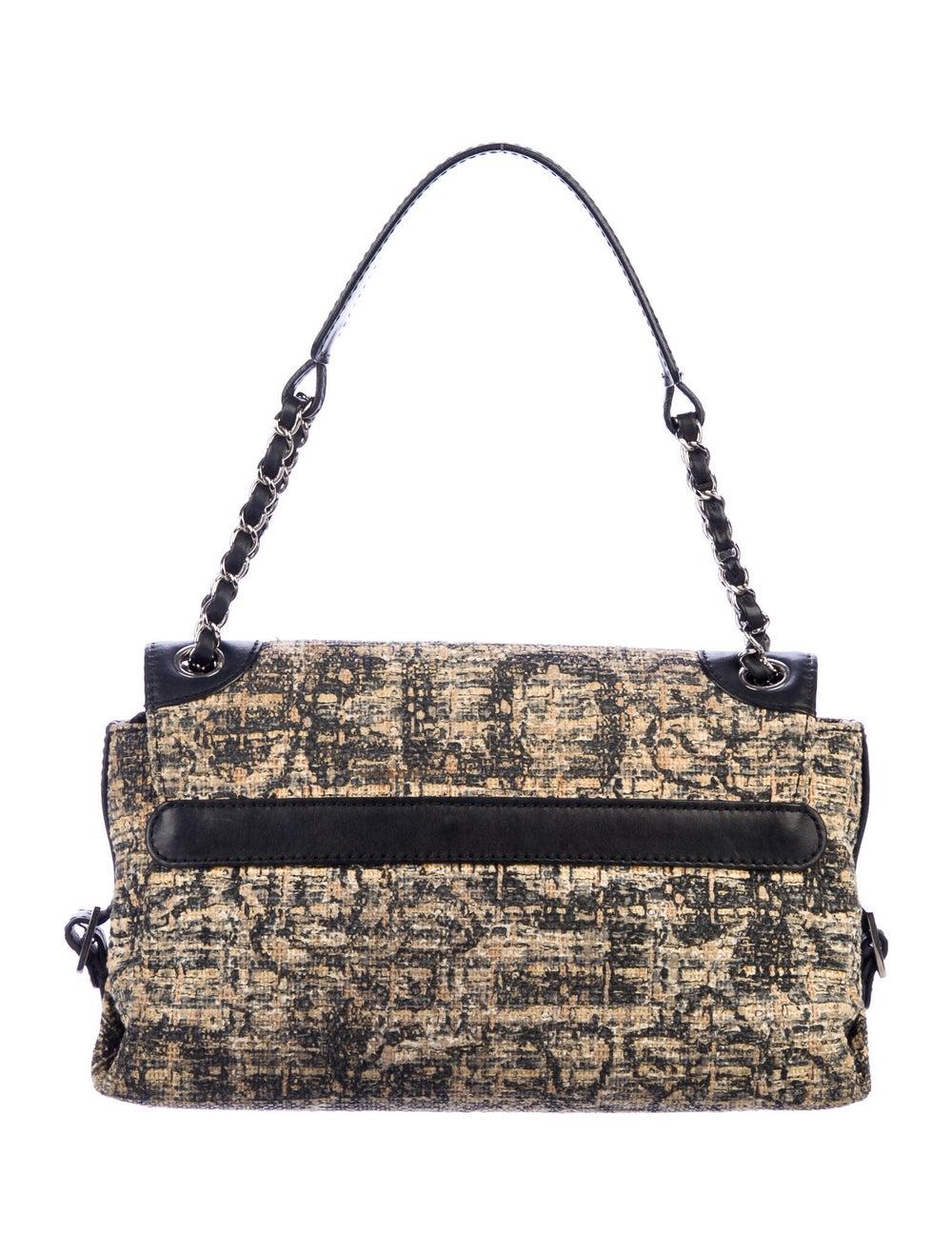 Chanel Tweed Shoulder Bag Silver - image 4