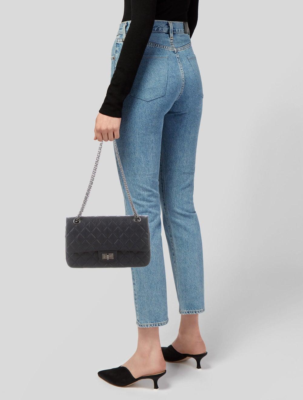 Chanel Reissue 225 Double Flap Bag Blue - image 2