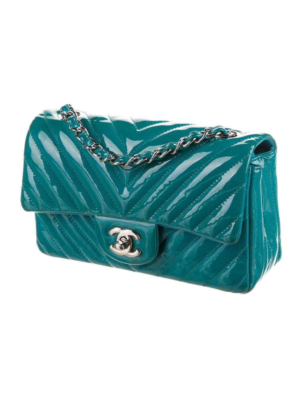 Chanel Classic New Mini Chevron Flap Bag Blue - image 3