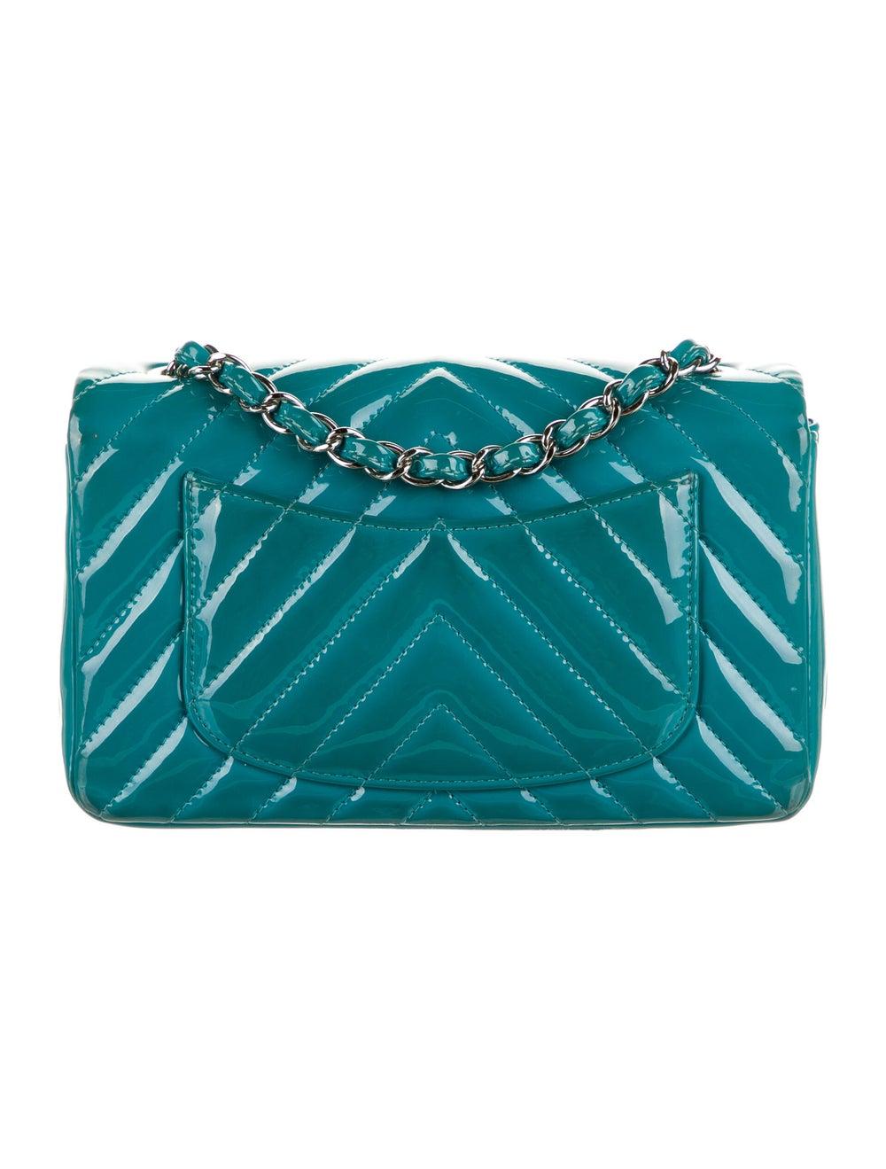 Chanel Classic New Mini Chevron Flap Bag Blue - image 4