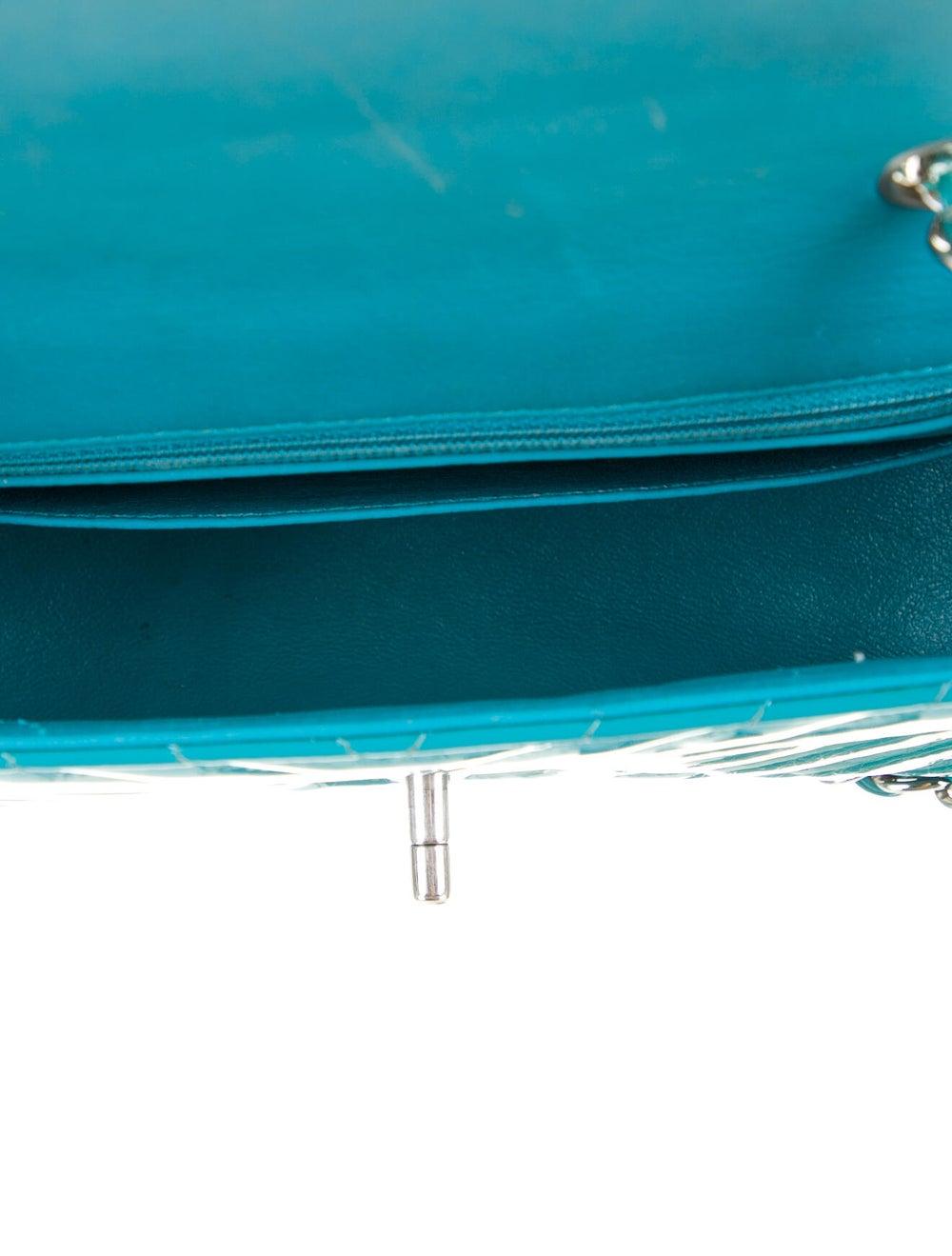 Chanel Classic New Mini Chevron Flap Bag Blue - image 5