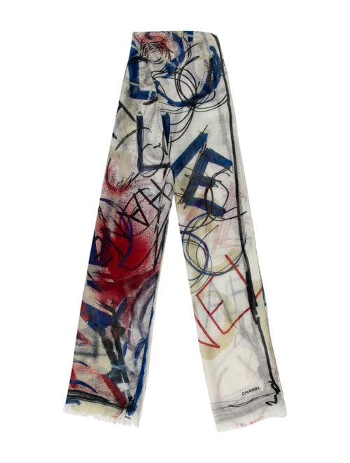 Chanel Graffiti Cashmere Scarf