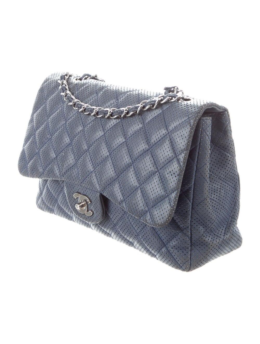 Chanel Classic Jumbo Single Flap Bag Blue - image 3