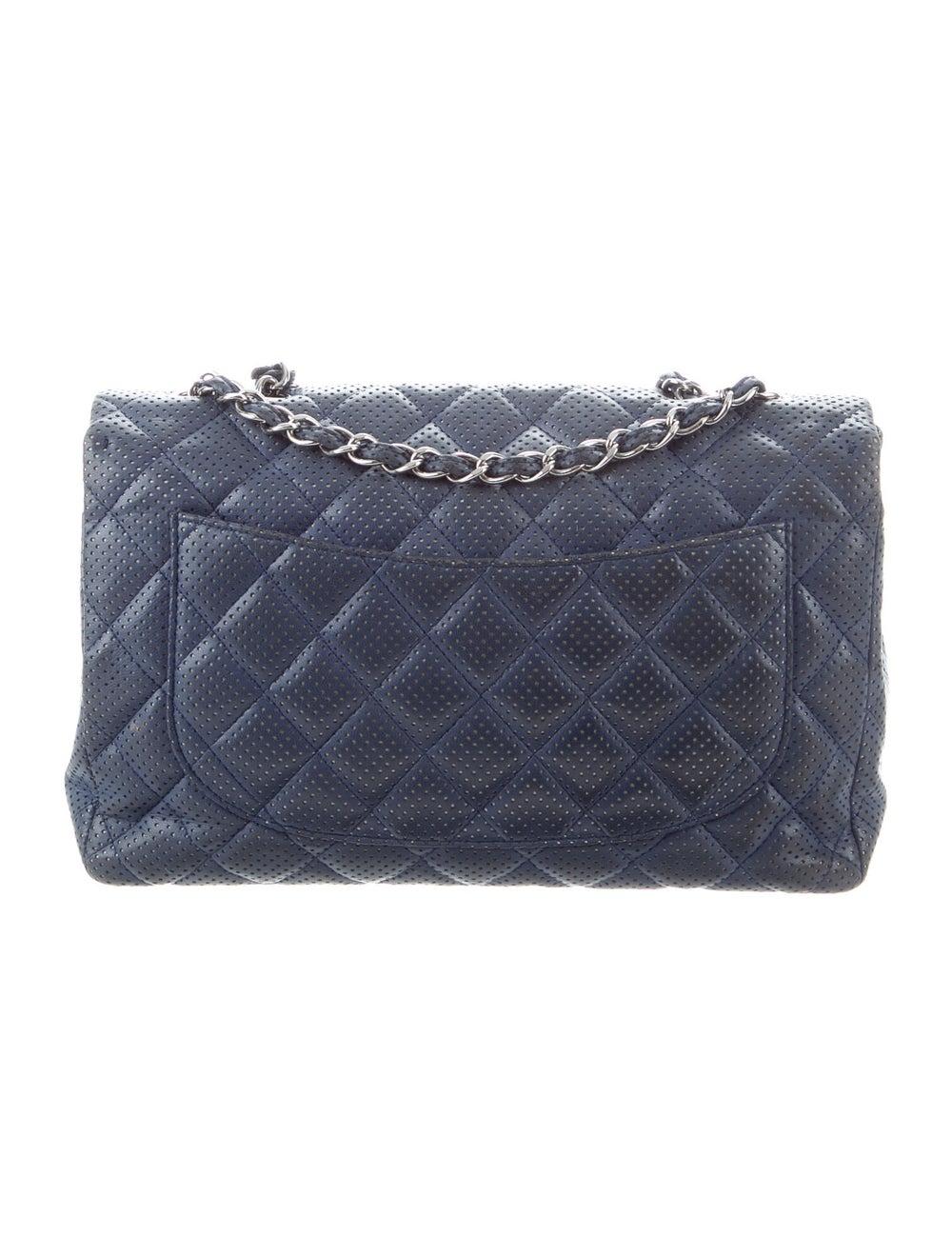 Chanel Classic Jumbo Single Flap Bag Blue - image 4