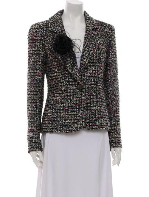 Chanel Tweed Pattern Blazer Black