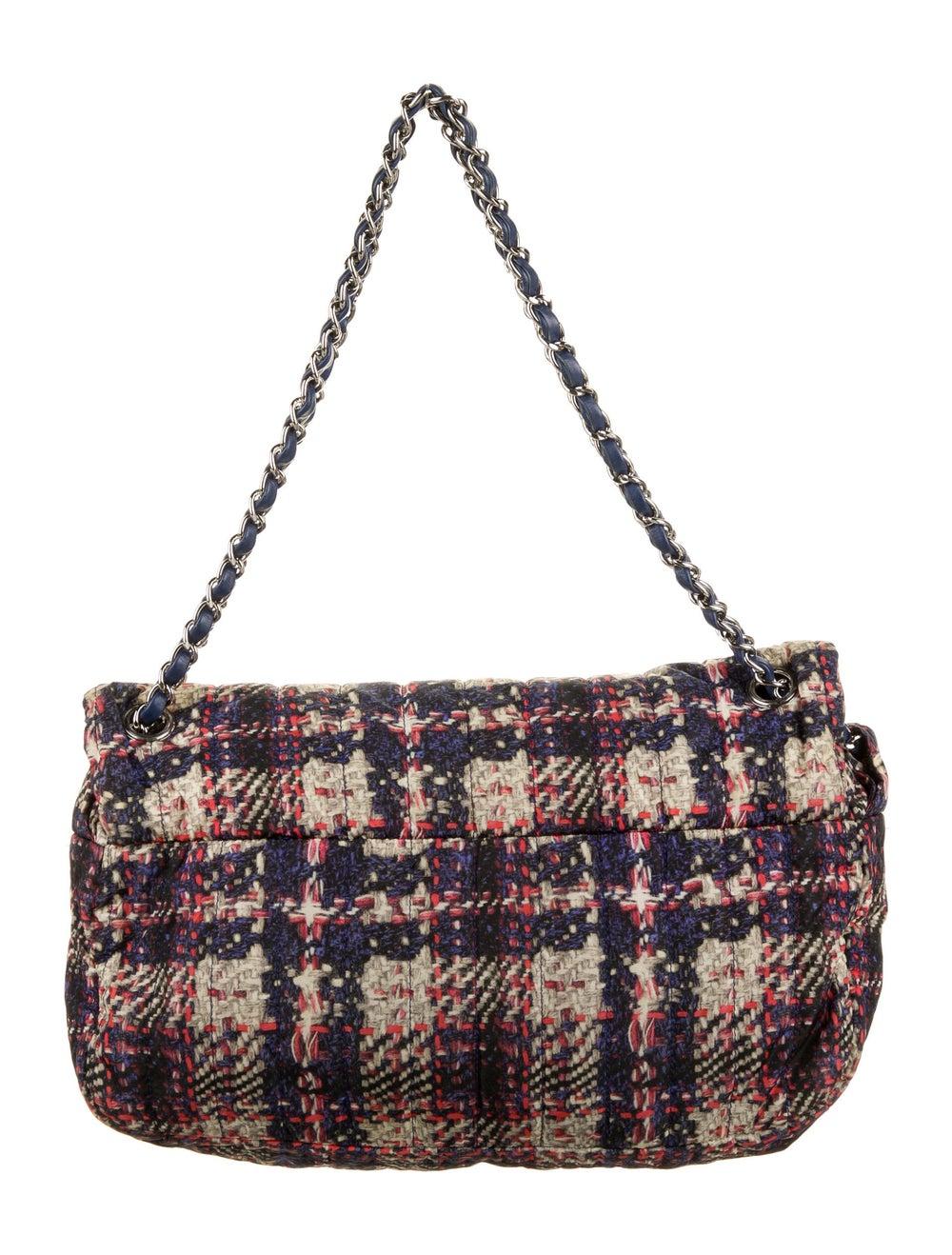 Chanel Medium Nylon Tweed Flap Bag Blue - image 4