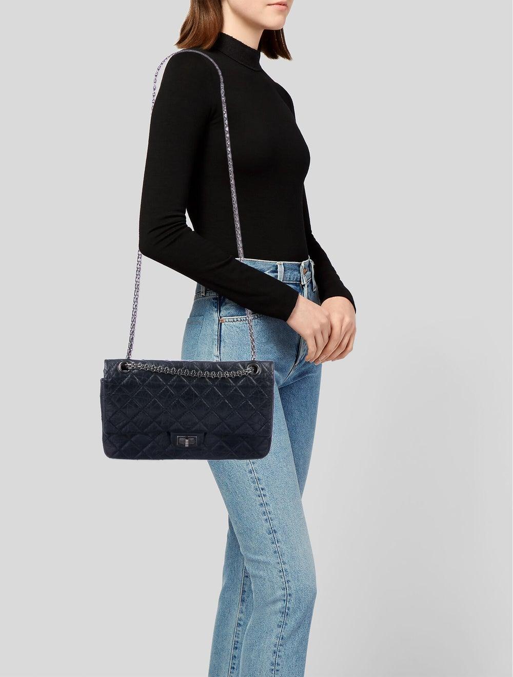 Chanel Reissue 226 Double Flap Bag Blue - image 2
