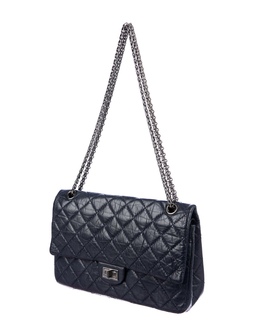 Chanel Reissue 226 Double Flap Bag Blue - image 3