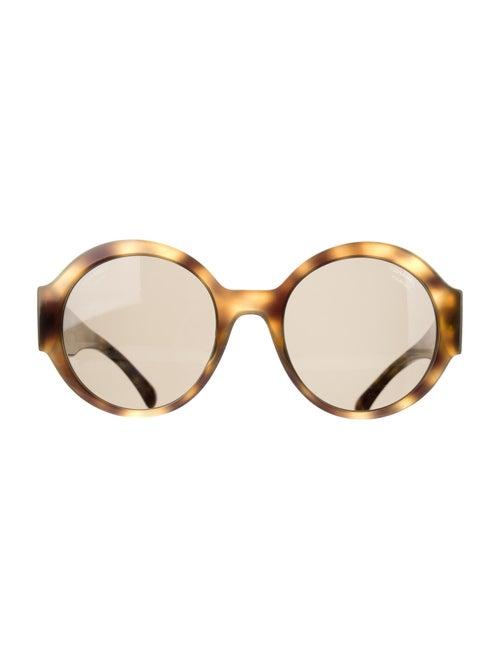 Chanel 2019 Polarized Round Logo Oversize Sunglas… - image 1