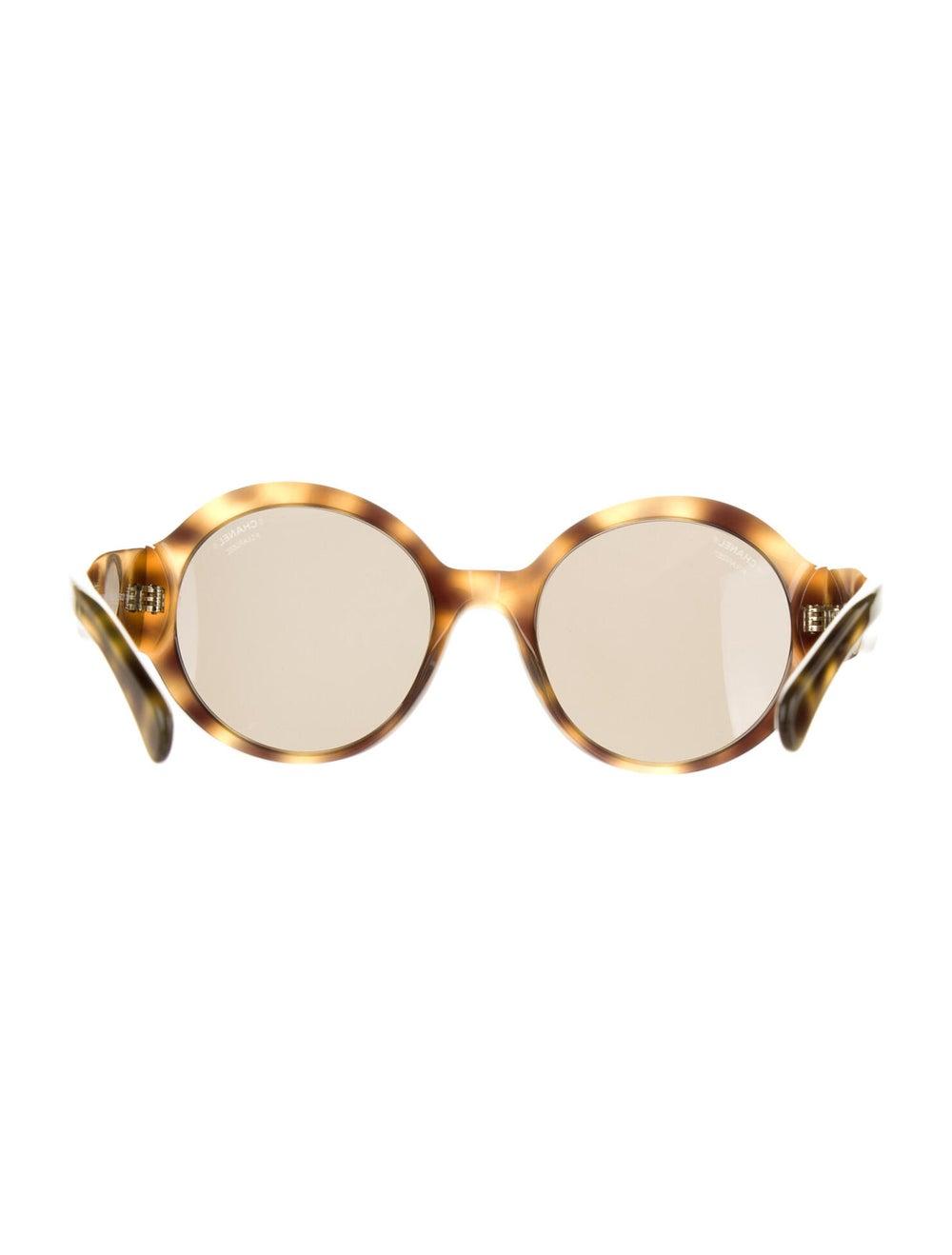 Chanel 2019 Polarized Round Logo Oversize Sunglas… - image 3