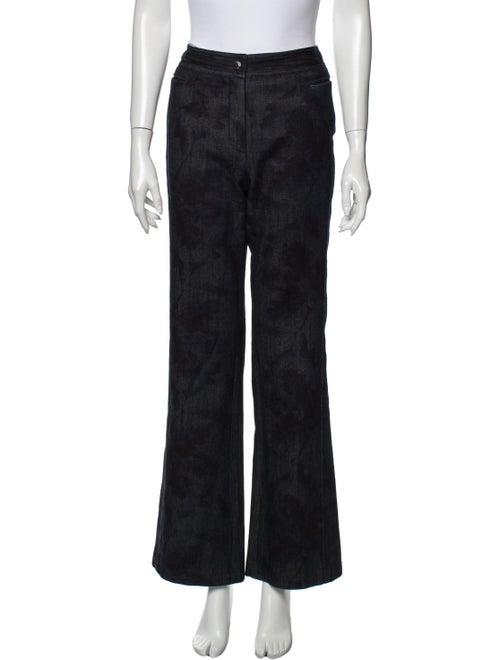 Chanel Vintage Wide Leg Jeans Blue