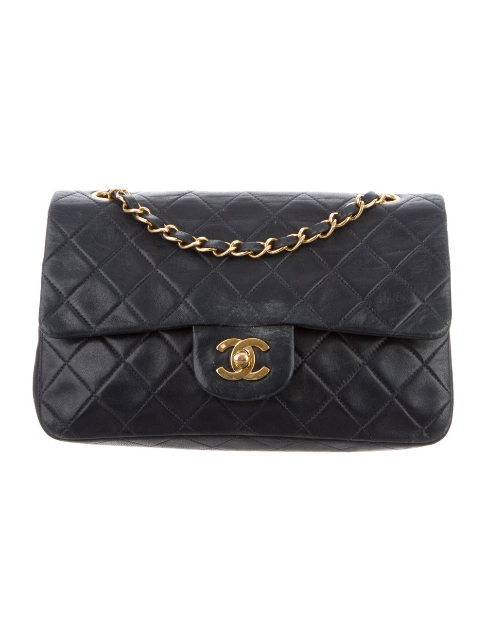 Chanel Small Classic Flap Bag Blue - image 1