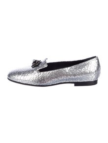 Chanel Faux Pearl Accents Leather Loafers w/ Tags