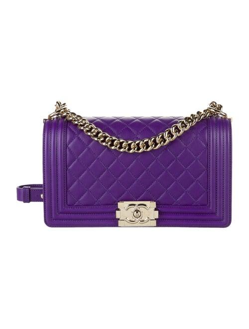 Chanel Medium Boy Bag Purple