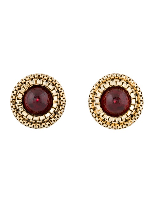 Chanel Vintage Gripoix Clip-On Earrings Gold