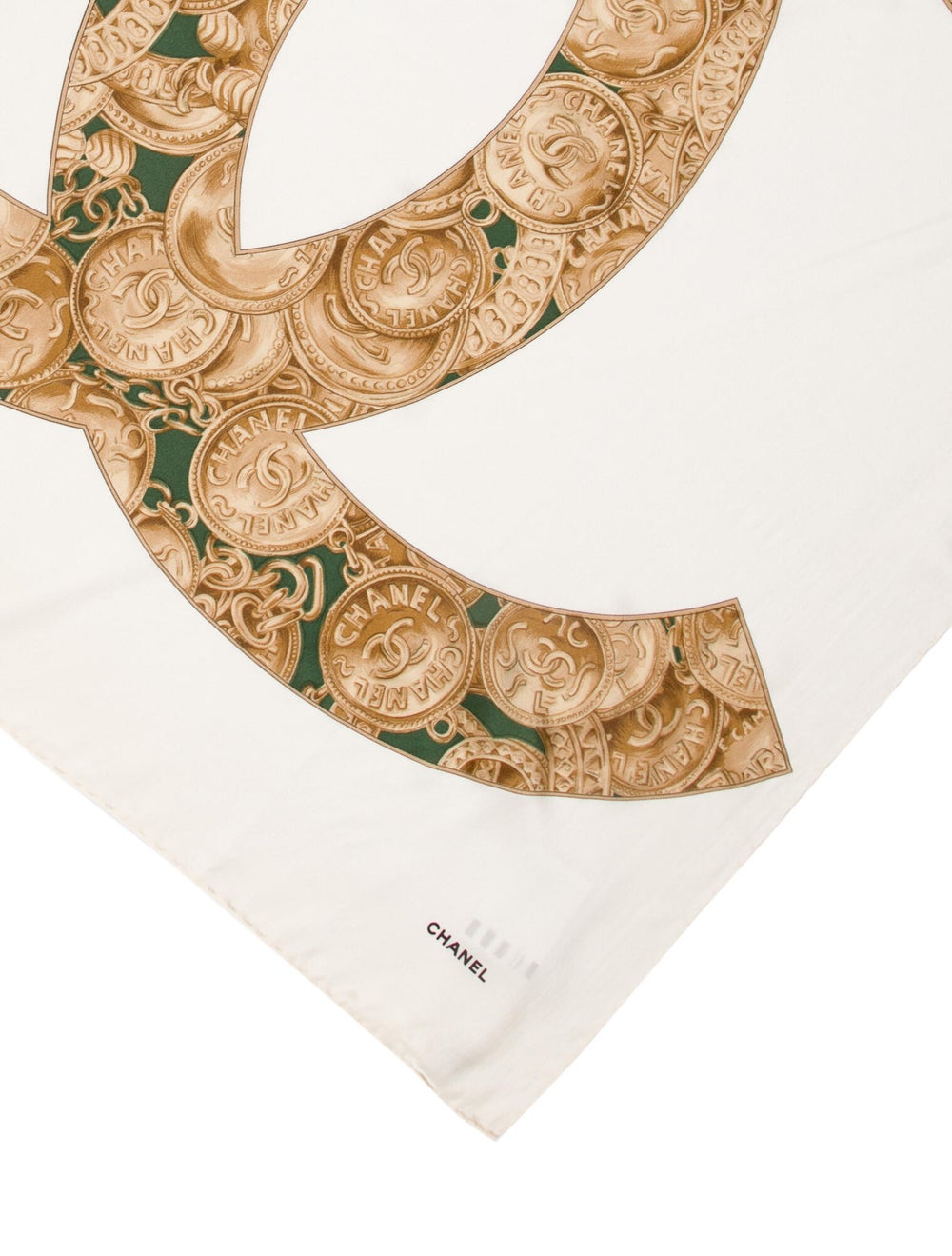 Chanel Coin Silk Scarf - image 2