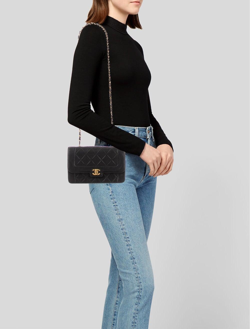 Chanel Vintage Diana Flap Bag Blue - image 2