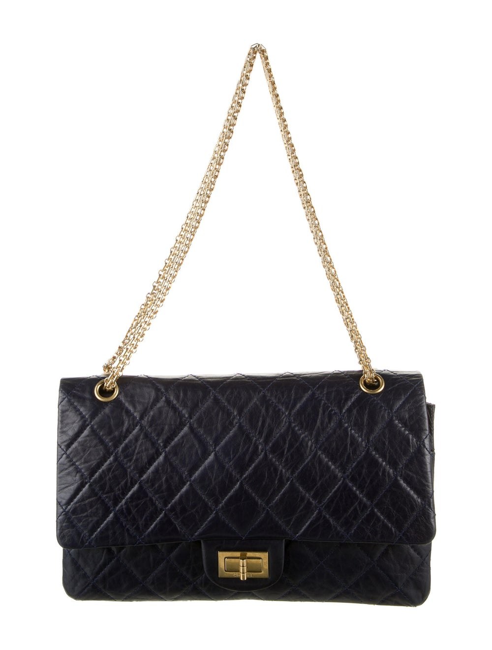 Chanel Reissue 227 Double Flap Bag Blue - image 1