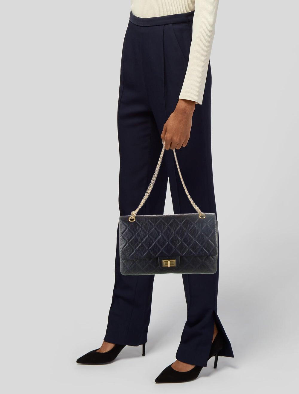 Chanel Reissue 227 Double Flap Bag Blue - image 2