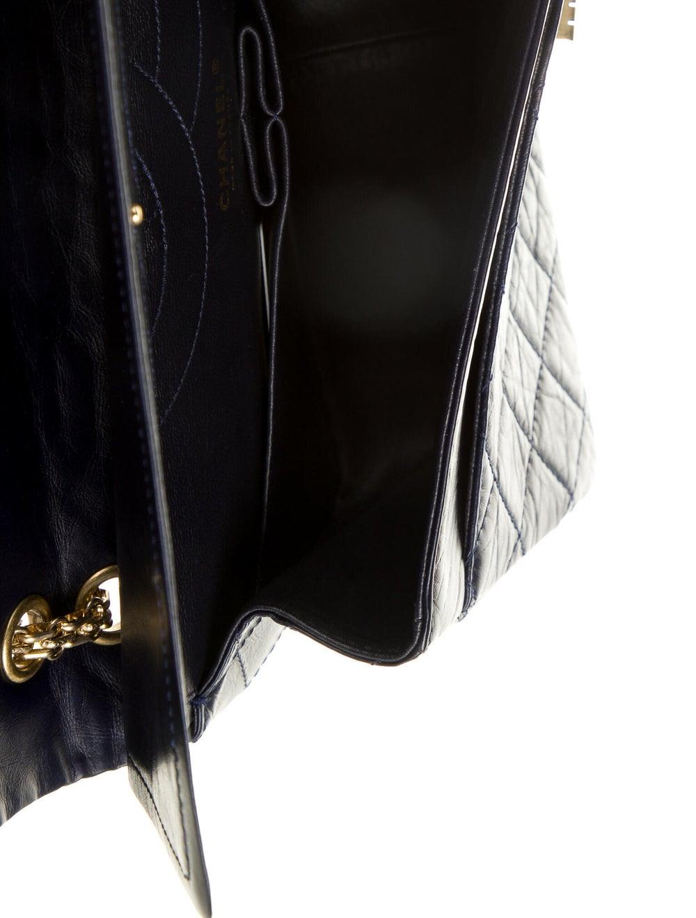Chanel Reissue 227 Double Flap Bag Blue - image 5