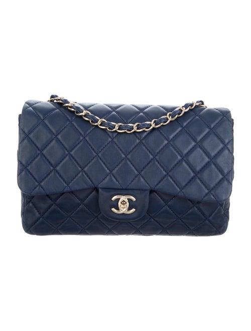 Chanel Classic Jumbo Single Flap Bag Blue - image 1