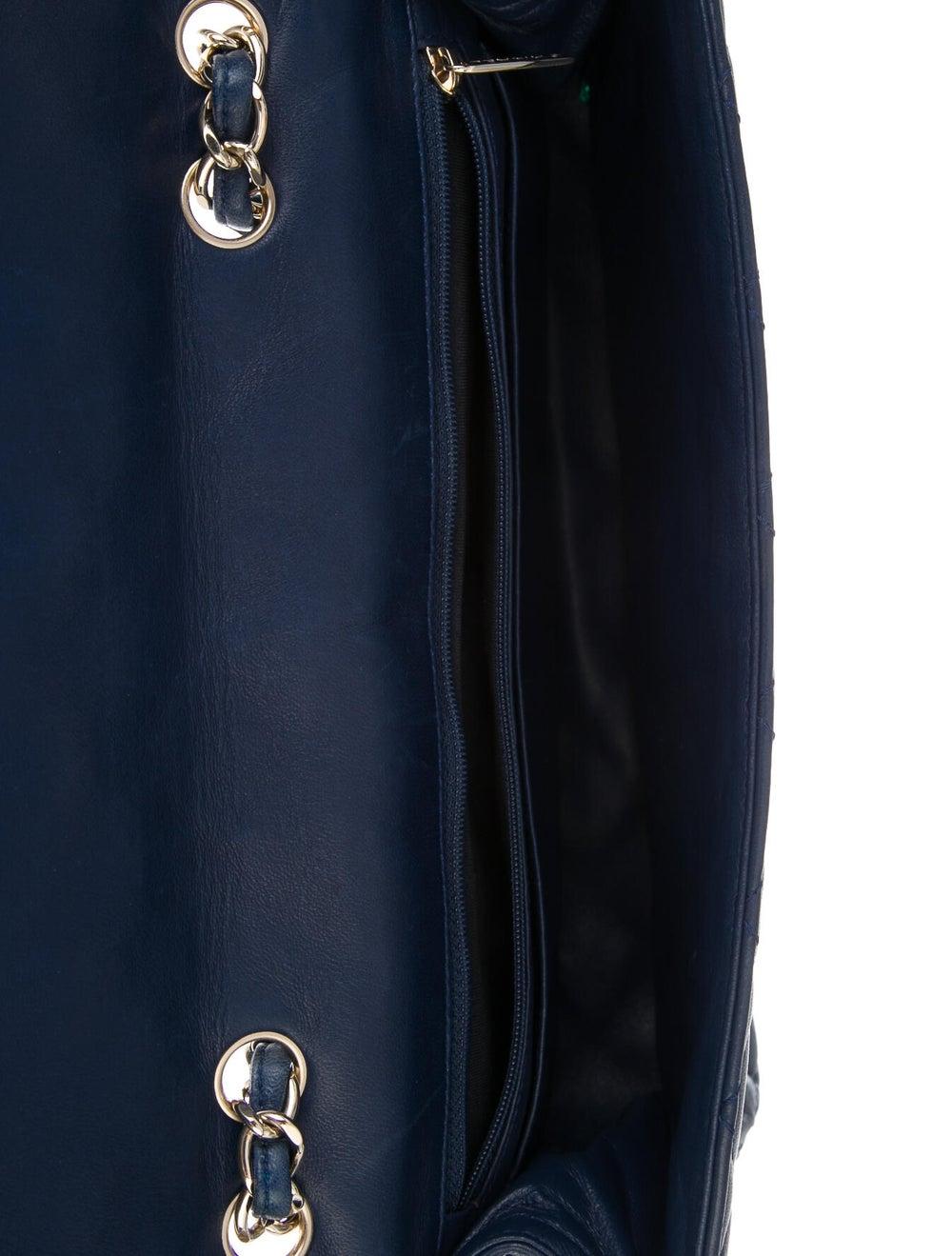Chanel Classic Jumbo Single Flap Bag Blue - image 5