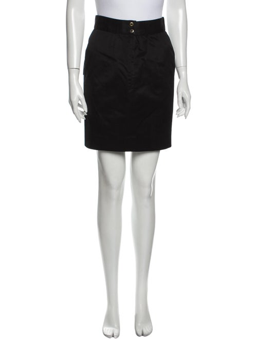 Chanel Vintage Mini Skirt Black
