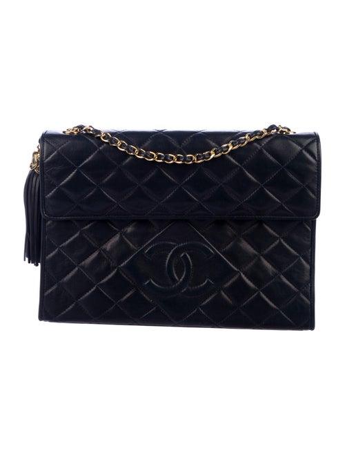 Chanel Vintage Tassel Flap Bag Blue - image 1