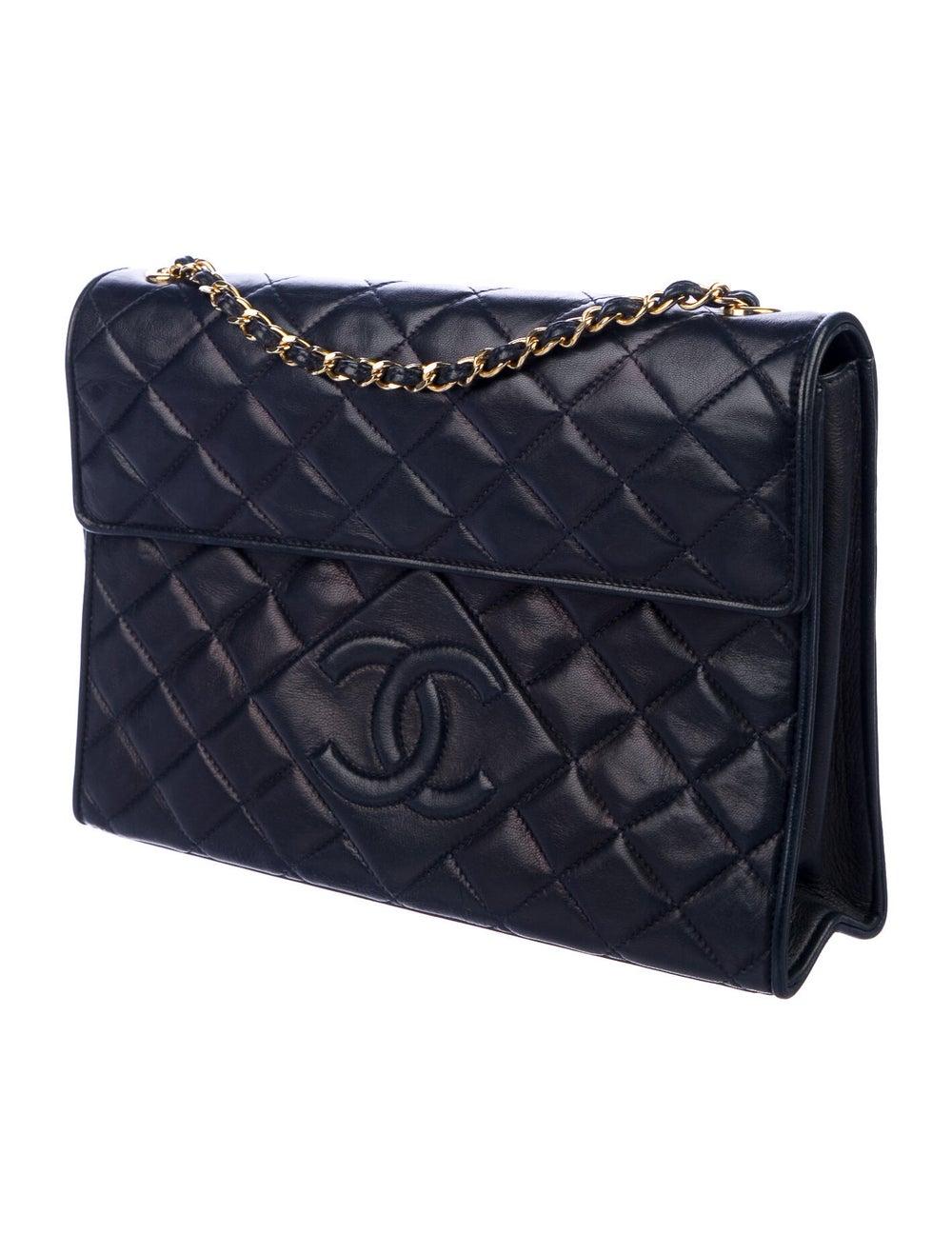 Chanel Vintage Tassel Flap Bag Blue - image 3