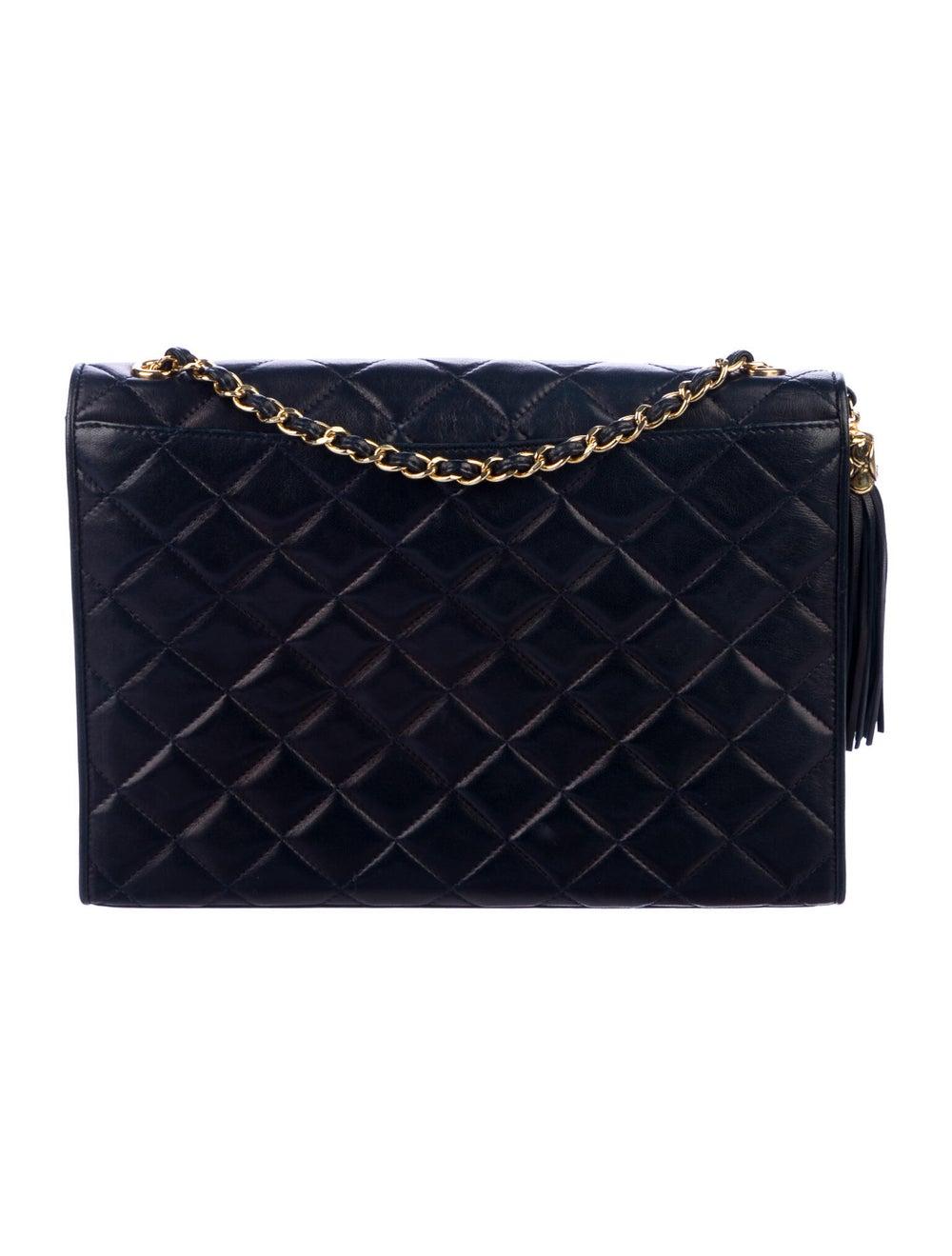Chanel Vintage Tassel Flap Bag Blue - image 4