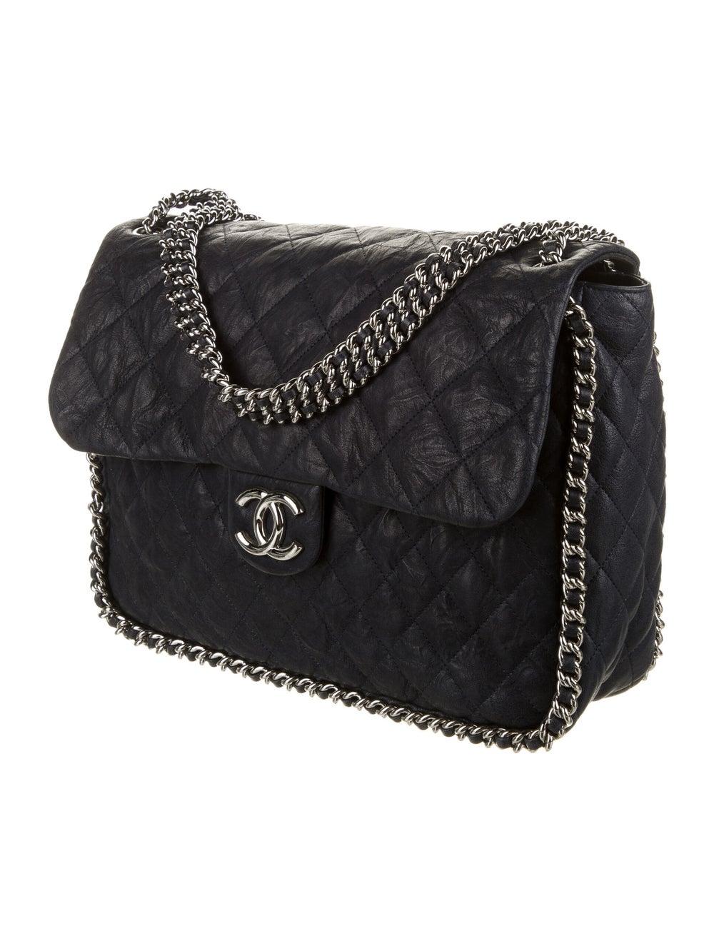 Chanel Chain Around Maxi Flap Bag Blue - image 3