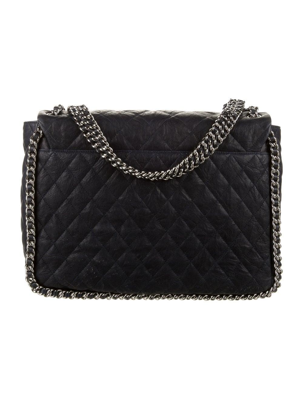 Chanel Chain Around Maxi Flap Bag Blue - image 4