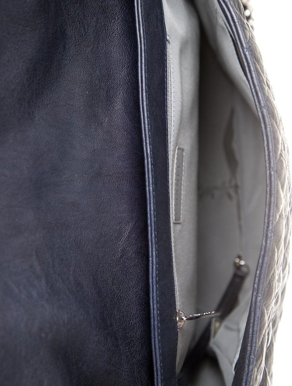 Chanel Chain Around Maxi Flap Bag Blue - image 5