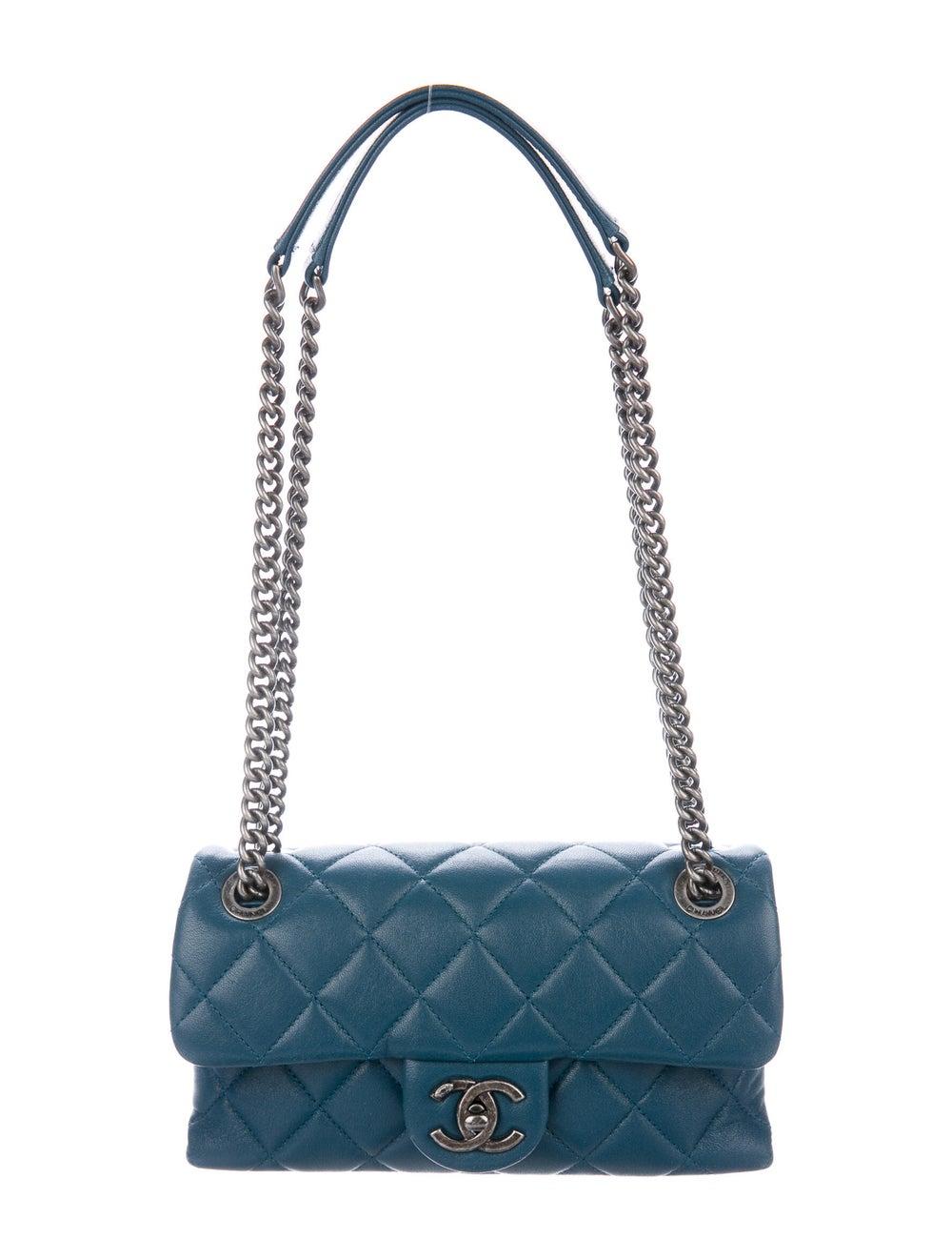 Chanel Small Burgundy Rocks Flap Bag Blue - image 1