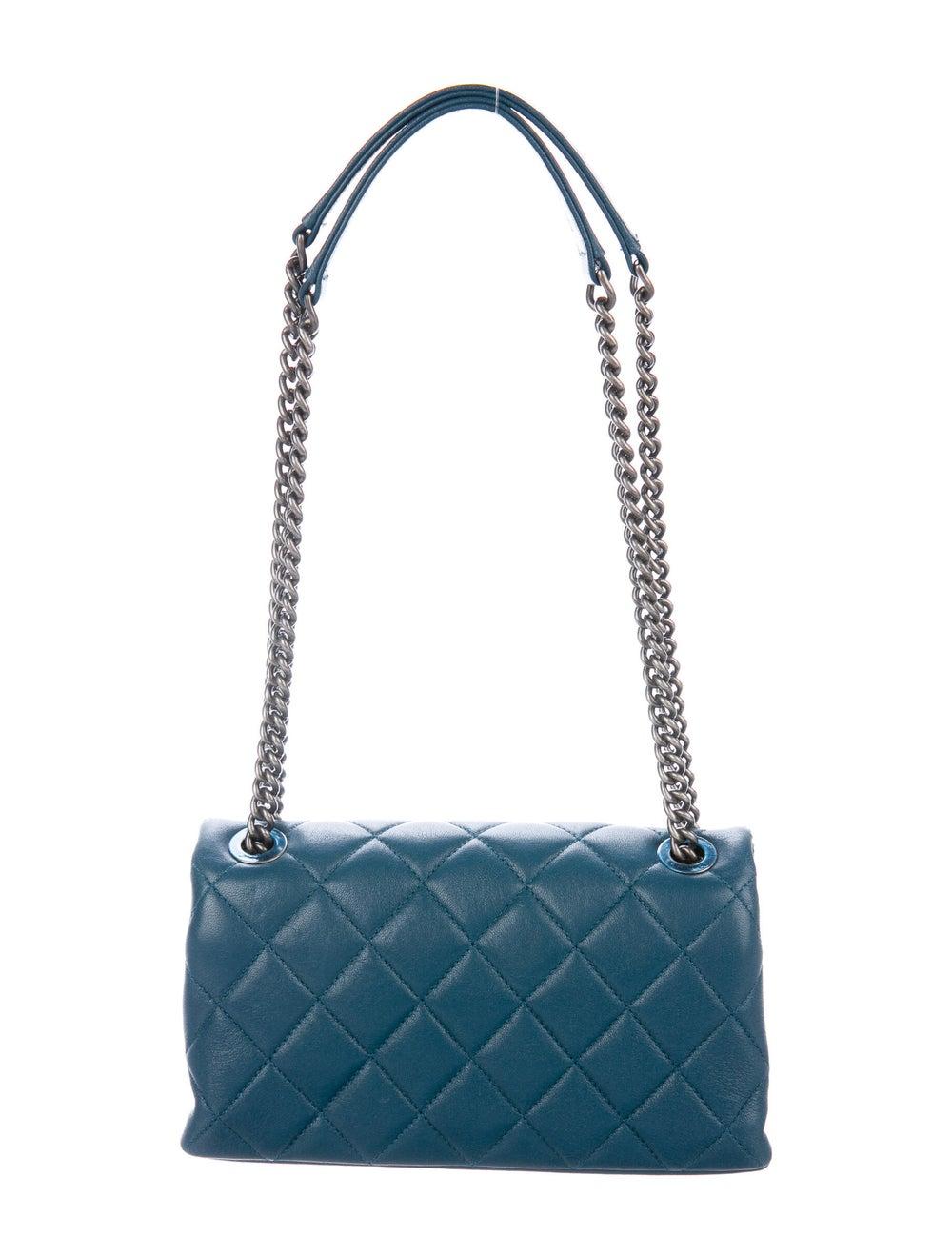 Chanel Small Burgundy Rocks Flap Bag Blue - image 4