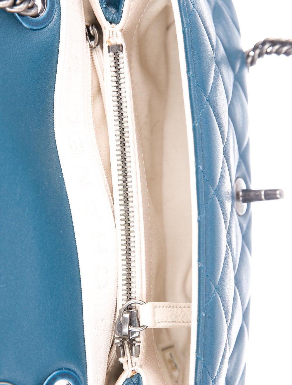 Chanel Small Burgundy Rocks Flap Bag Blue - image 5
