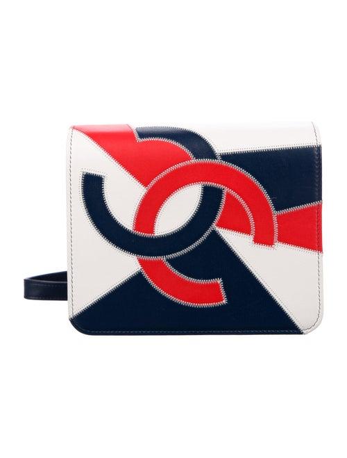 Chanel 2019 CC Accordion Flap Bag Blue - image 1