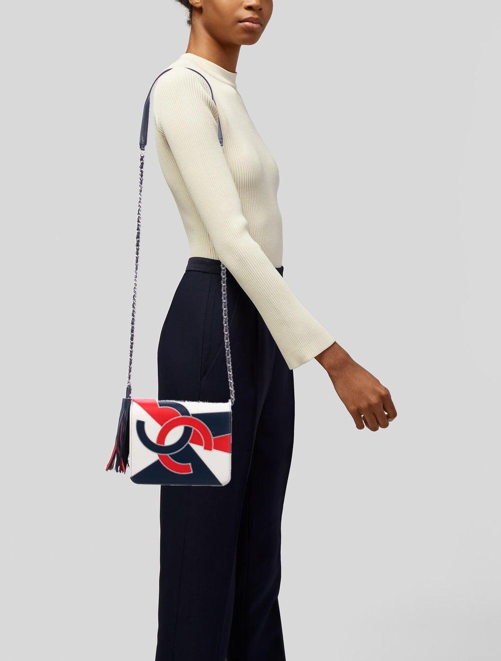 Chanel 2019 CC Accordion Flap Bag Blue - image 2