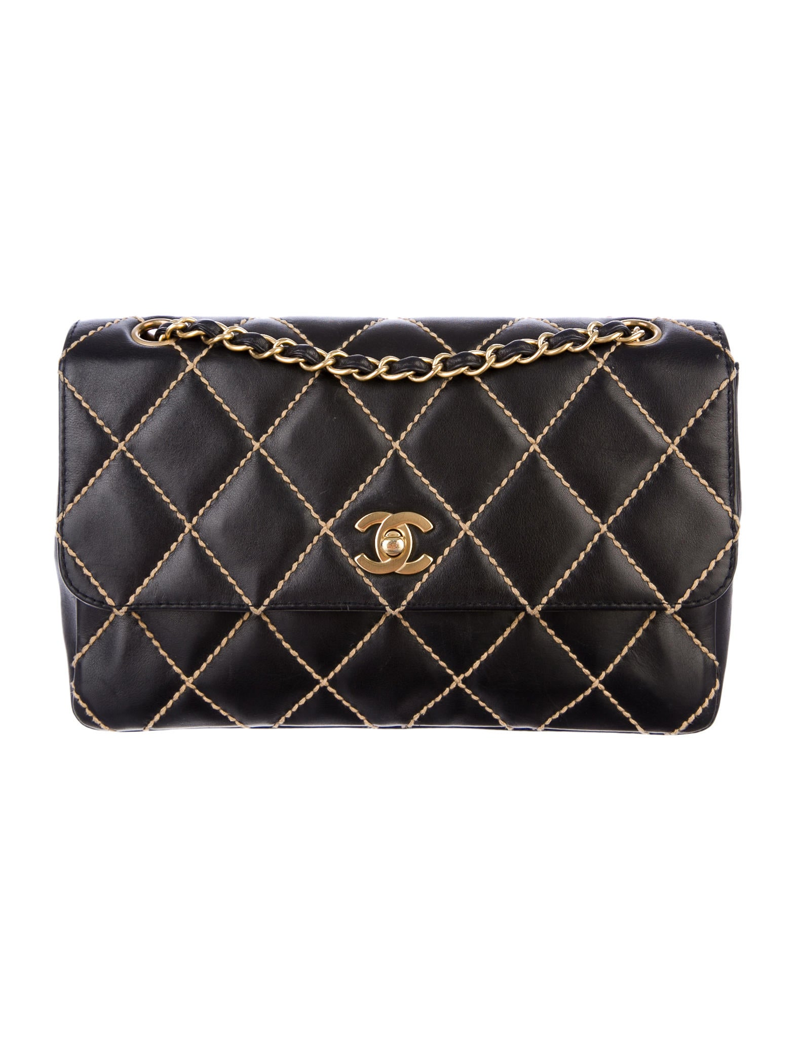 dd216c94752a Chanel Surpique Flap Bag - Handbags - CHA57112 | The RealReal