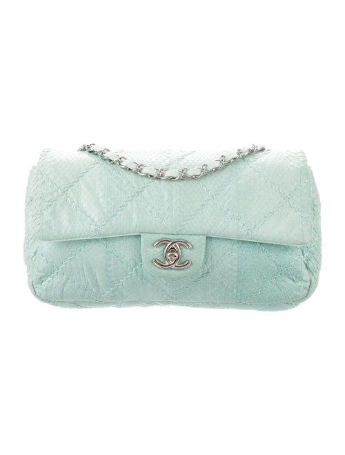 Chanel Python Ultimate Stitch Flap Bag Blue - image 1