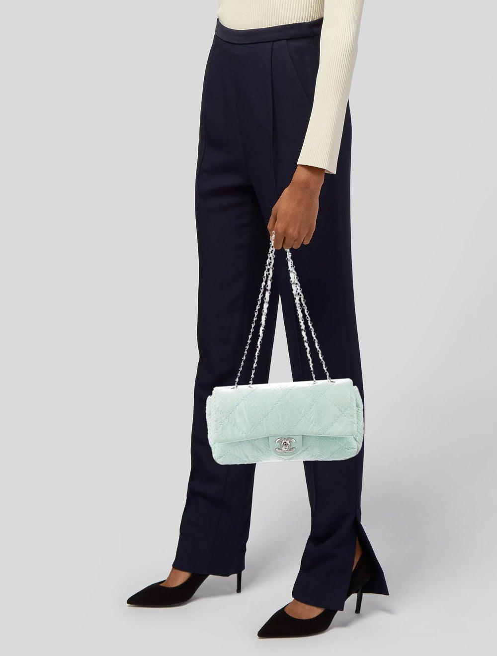 Chanel Python Ultimate Stitch Flap Bag Blue - image 2