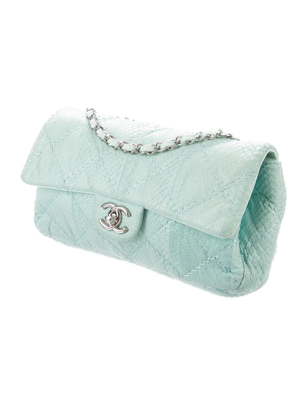 Chanel Python Ultimate Stitch Flap Bag Blue - image 3