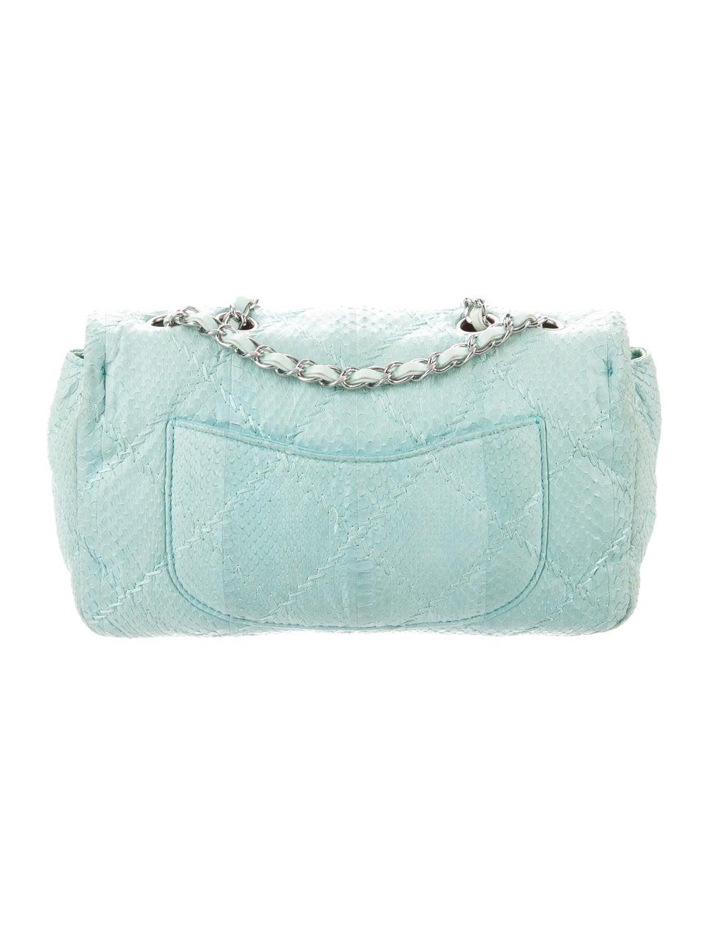 Chanel Python Ultimate Stitch Flap Bag Blue - image 4