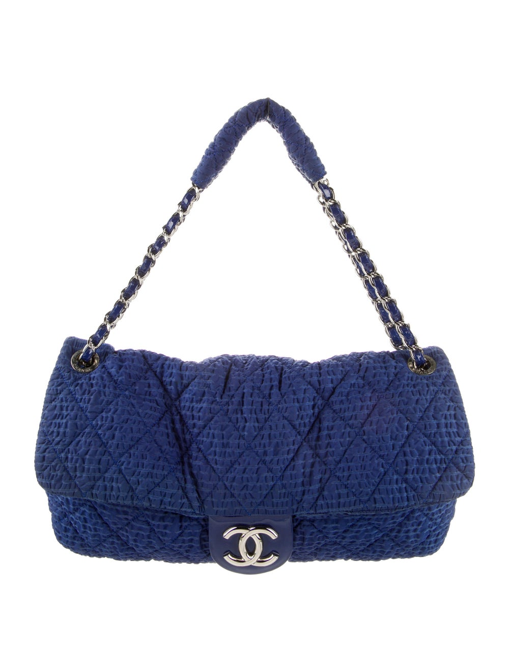 Chanel Cloquee Flap Bag Blue - image 1