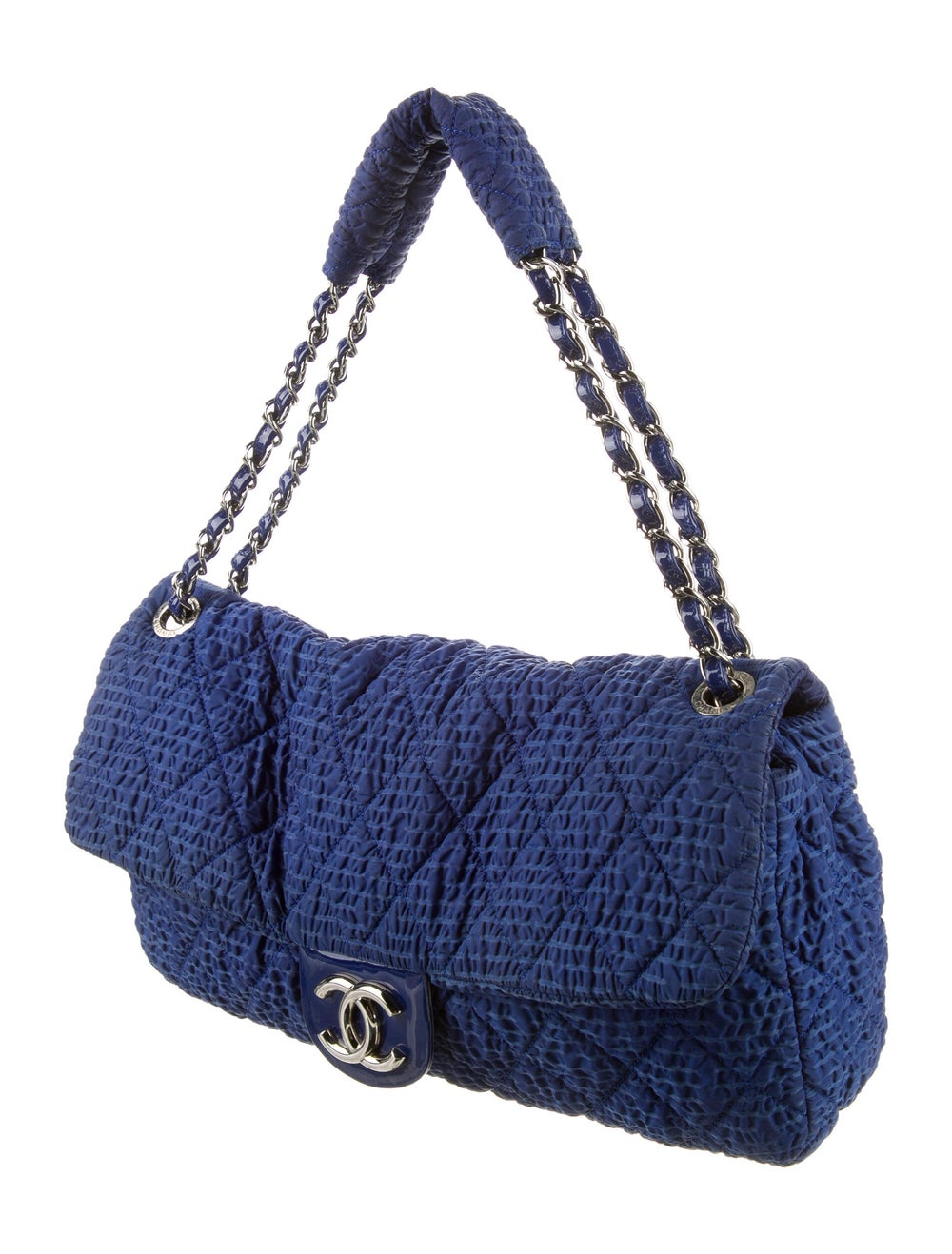 Chanel Cloquee Flap Bag Blue - image 3