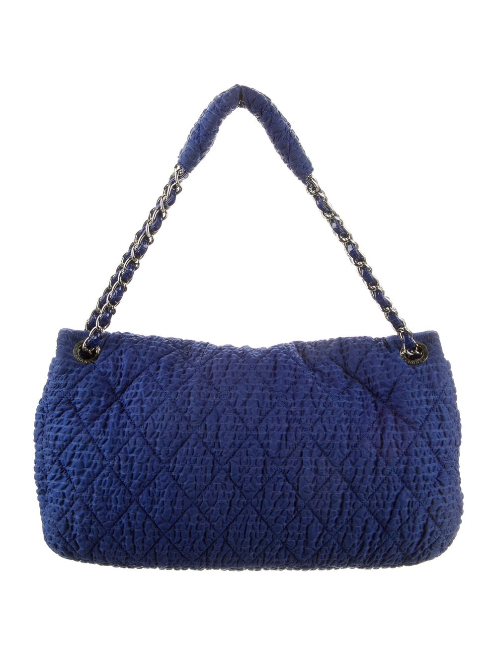 Chanel Cloquee Flap Bag Blue - image 4