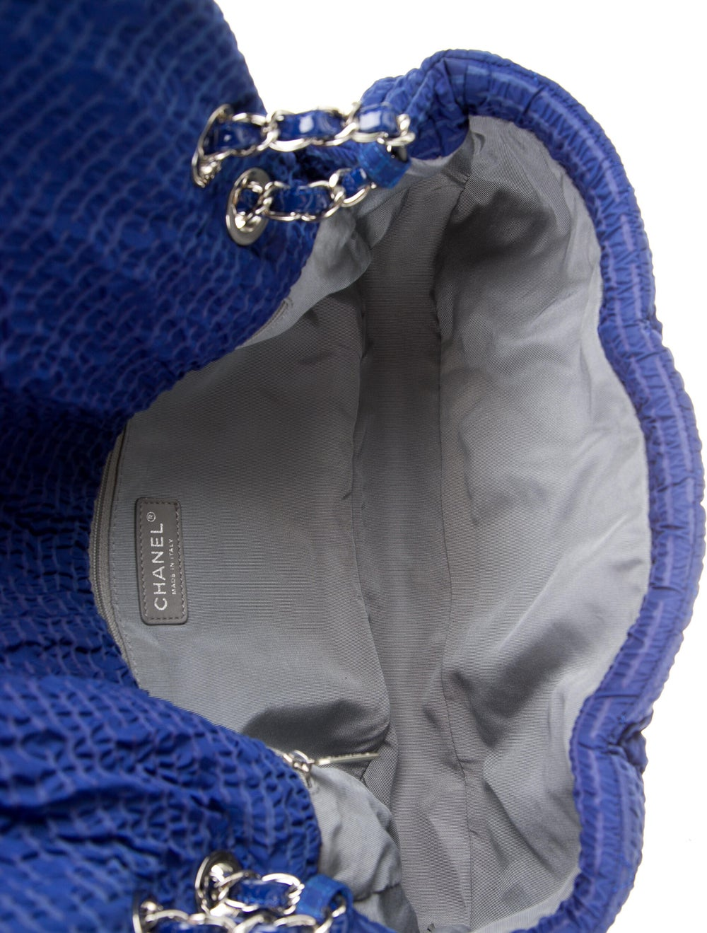 Chanel Cloquee Flap Bag Blue - image 5