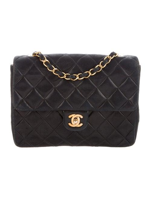 Chanel Vintage Classic Small Single Flap Bag Blue - image 1